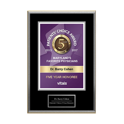 Vitals 5 Years Patients Choice Award